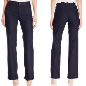 NYDJ Not Your Daughters Jeans High Rise Bootcut Dark Wash Stretch Petite Size 8P